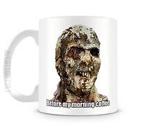 BEFORE MY MORNING JOE - 11 oz Ceramic Coffee Cup Mug ZOMBIE Horror Walking Dead
