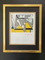 "ROY LICHTENSTEIN + 1981 SIGNED  BEAUTIFUL PRINT MATTED 11"" X 14"" + BUY IT NOW !"