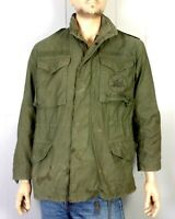 vtg US Navy Post Vietnam 1980's era Seabees Field Jacket OG-107 Military S Reg