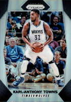 2017-18 Panini Prizm Prizms Silver #82 KARL-ANTHONY TOWNS  Timberwolves