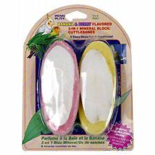 LM Penn Plax 2-in-1 Mineral Block Cuttlebone - Banana & Berry Flavors  2 Pack