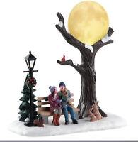 Lemax Christmas Moon Holiday Village Tree Man Woman Light Up New #84359 NIB