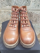 Men's Vtg Tan Leather PARABOOTS GRIFF CHASSE Military Army Boots Made in France