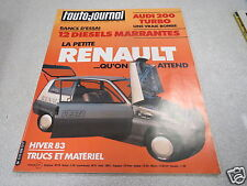 L AUTO JOURNAL 1983 N° 20 La Renault Vesta / 12 Diesels Marrantes *