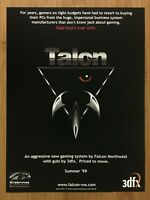 1999 Falcon Northwest Talon Vintage Print Ad/Poster Gaming Computer Promo Art
