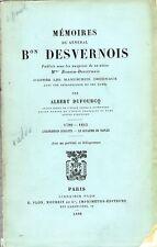 C1 NAPOLEON Memoires GENERAL BARON DESVERNOIS 1789 1815 Egypte MURAT Espagne