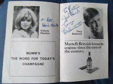 More details for hammer horror petula portell +++ doctor who rarity hand signed theatre programme