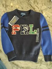 New listing Nwt Boys retro Polo Ralph 67 Lauren size 6 pullover sweater football $89 Retail