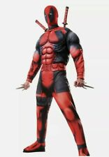 Deadpool Costume Muscle Chest Jumpsuit Adult Size XL