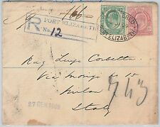 CAPE of GOOD HOPE -  POSTAL HISTORY - REGISTERED COVER to ITALY 1955
