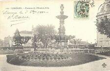 CPA 87 - LIMOGES (Haute Vienne) - Fontaine de l´Hôtel de Ville - Dos non divisé