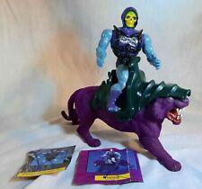 Vintage He-Man MOTU PANTHOR Evil Savage Cat Saddle Armor, Skeletor Action Figure