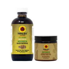 Tropic Isle Living Jamaican Black Castor Oil 4oz & Coconut Hair Food /applicator