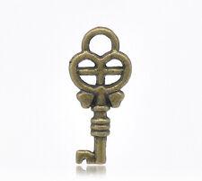 16 Pcs Antique Bronze Key Charms Pendants 18x8mm 80 LC1949