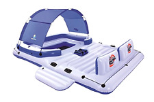 Bestway Coolerz Tropical Breeze 6 Person Floating Island Inflatable Party Island