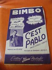 Partition Bimbo C'est Pablo Joss Baselli Armand Canfora Briez