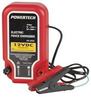 Powertech Electric Fence Energiser 10km 12V Barrier Farm Animals With Wire Power