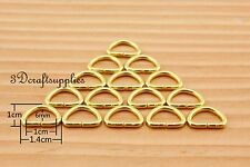 d ring d-rings purse ring Webbing Strapping metal gold 10mm 3/8 inch 40pcs H96