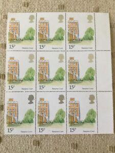 15p Stamps commemorating Hampton Court (9 No.)