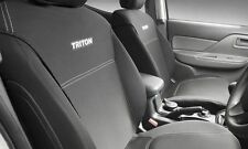 Mitsubishi Triton MQ , MR Neoprene (WETSUIT MATERIAL) Seat Covers - NEW GENUINE