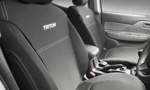 Mitsubishi Triton MQ , MR Neoprene (WETSUIT MATERIAL) Seat Covers - NEW GENUINE