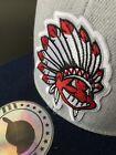 Внешний вид - CLASSIC THROWBACK CHIEF WAHOO HEADDRESS LOGO INDIANS BASEBALL CAP HAT NEW (G)