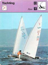 FICHE CARD Finn Bateau de Régate Regatta Monotype à Coque Voilier Yacht 70s