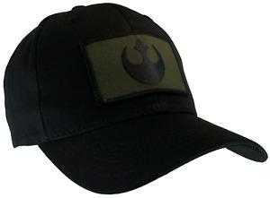 Star Wars Rebel Hat Black Ball Cap Cotton Structured OD Green & Black Emblem