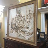 Artist Marilyn Gorsky Oil On Canvas Large Painting Still Life 1968 Fine Art