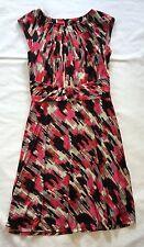 GUC Women's Tahari Pink, Black, and Cream Dress-Sz 4