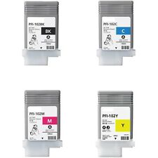 Compatible PFI-102 Inks 0895B001 0896B001 0897B001 0898B001 for Canon LP17