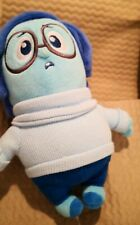 "Inside Out Sadness Plush Soft Toy Doll Pixar Disney Store Original 11"" vgc"