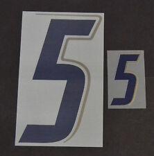 """Grafica UFFICIALE ITALIA MONDIALI 2006 Home Numero e Numerino """"5"""" blu"""