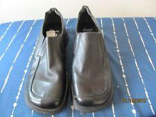 Clarks shoes UK 7  black leather  slip on  cushion comfort  Wedge NWB