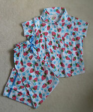 New Mini Boden Cotton Summer Pyjamas Candy Fruit Field 2-10 years Strawberry