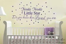 Twinkle Twinkle Little Star Wall Sticker Quote Kid Nursery Decor Vinyl Decal DIY