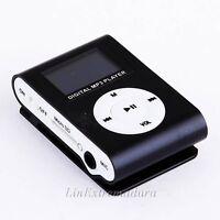 Mini Reproductor MP3 Clip LCD NEGRO Aluminio RADIO FM hasta 8GB MIcroSD a414