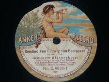 OCTET 78 rpm RECORD Anker BLÄSEROKTETT Schubert Frühauf Rausch BEETHOVEN Rondino
