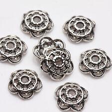 Wholesale Lot 100Pcs Tibetan Silver Flower Hole Bead Cap Jewelry Bracelet Making