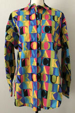 Vtg USA Rocky Mountain Clothing Womens Button Down Western Spell Out Shirt NWT