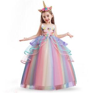 Joules Filles Lucy robe arc en ciel à paillettes 5 ans BNWT