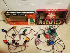 VINTAGE CANADIAN MADE Christmas & Holidays INDOOR LIGHTS LOT OF 2 BOXES TOTAL OF