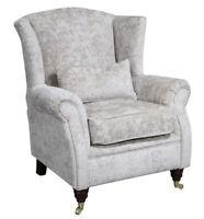Ashley Wing Chair Fireside High Back Armchair Nuovo Stone Velvet