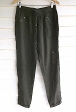 Jag Women's Green Elastic-Waist Pants - Size 10