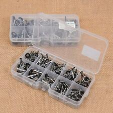 80Pcs/Lot Fishing Rod Guide Tip Repair Kit Eye Rings Eyes Stainless Steel + Box