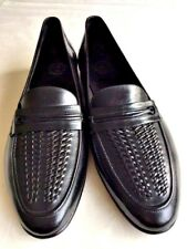 Brand New Made in Italy Florsheim Men's Black  Leather  Slip On Shoes