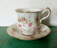 PARAGON VICTORIANA ROSE Tea Cup & Saucer Pink Gold Trim