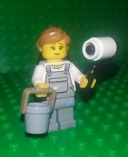 *NEW* Lego Painter Overalls Woman Girl Minifig  Paint Roller Bucket Fig x 1