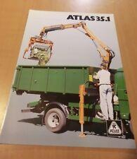 Prospekt ATLAS Weyhausen Ladekran 35.1 Ausgabe 1996