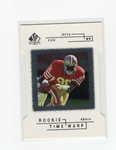 1998 SP Authentic Rookie Time Warp Die-Cut Jerry Rice #229/500 Card #32